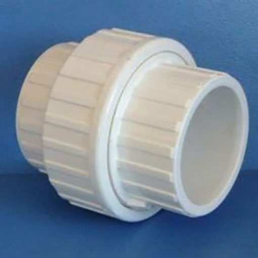 "White ABS/PVC Pipe Fittings 1.5"" Socket Unions"