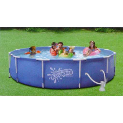 Summer Escapes 12ft Above Ground Framed Pool Package