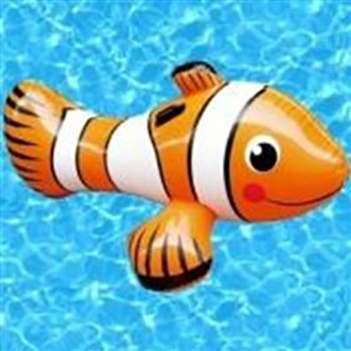 Summer Escapes Inflatable Clown Fish Ride-On