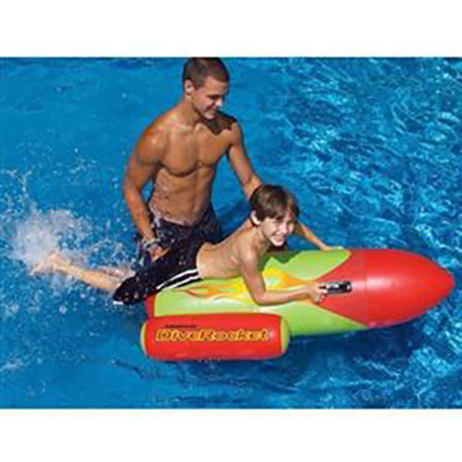 Swimline Inflatable Dive Rocket Ride On Toy