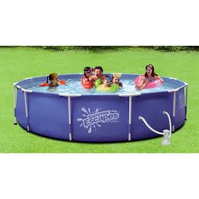 Summer Escapes 15ft Above Ground Framed Pool Package