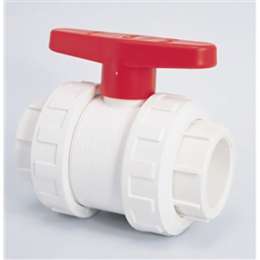 "Double Union Ball Valve 1.5"" PVC Quantity 1"