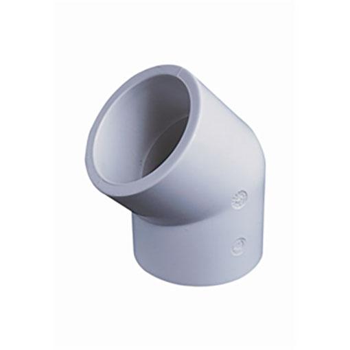 "White ABS/PVC Pipe Fittings 1.5"" 45 Degree Elbows"