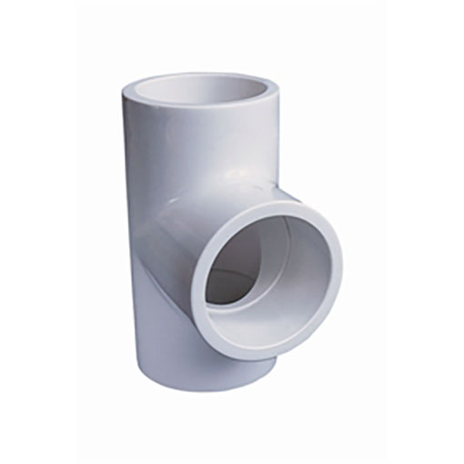 "White ABS/PVC Pipe Fittings 1.5"" Equal Tee"