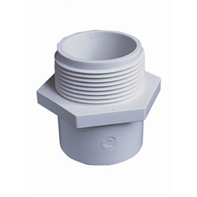 "White ABS/PVC Pipe Fittings 1.5"" Hex Nipples"