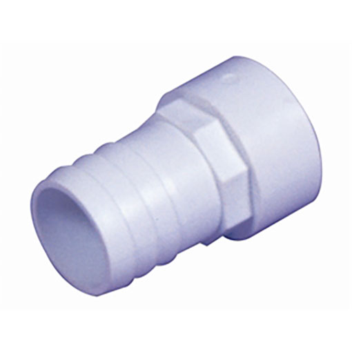 "White ABS/PVC Pipe Fittings 1.5"" Plain Hosetails"