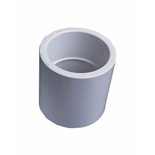 "White ABS/PVC Pipe Fittings 1.5"" Plain Sockets"