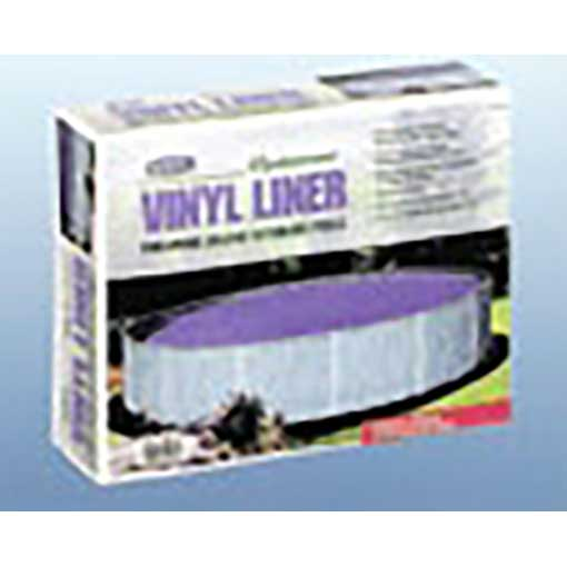 Plain Blue Overlap Liner - Splasher Pools