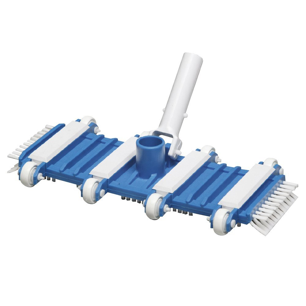 SWIMMING POOL CLEANING CONCRETE FLEXIBLE VACUUM HEAD WITH SIDE BRUSHES